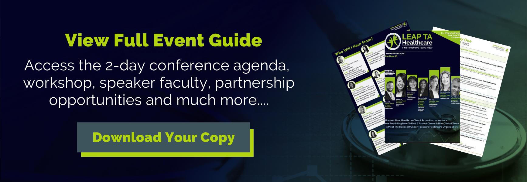 LEAP TA Healthcare - Event Guide